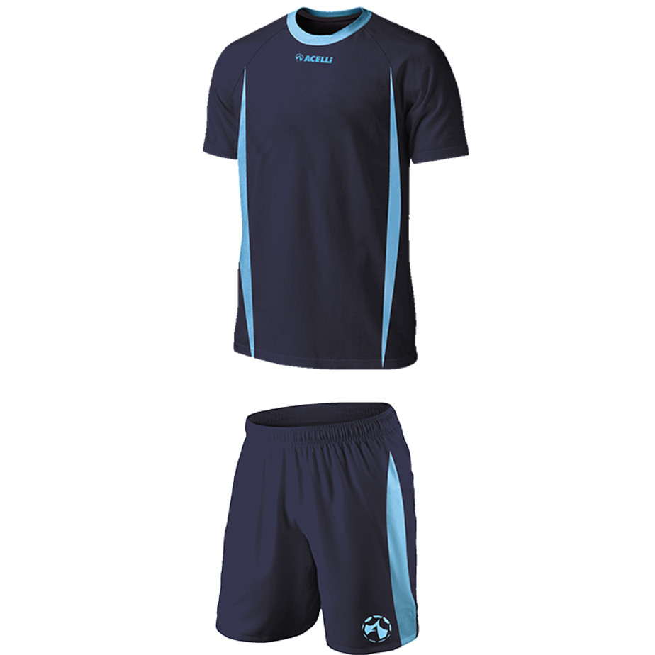 The Navy/Sky BRT Blade Soccer Single Set Is Made From 100% Poluyester With X Superior Quick Dry Moisture Management Fabric.
