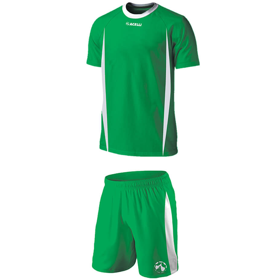 The Emerald/White Kiddies BRT Blade Soccer Single Set Is Made From 100% Polyester. The Set Features Short Raglan Sleeves, Self Fabric Neck Line,Shorts With An Elasticated Waistband And Drawcord.