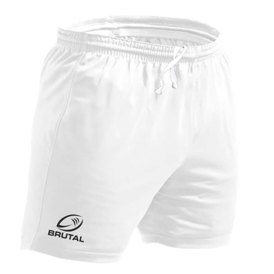 The White Kiddies BRT Players Rugby Short Is Made From 240g Cotton And Polyester Material. The Short Features An Elasticated Waistband, Contrast Twill Tape On Inner Pocket, Side Slit And Bar Ticking.