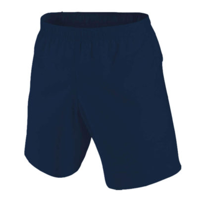 The navy Kiddies BRT Challenger Short is made from 100% polyester. The short features an elasticated waist band with concealed drawcord and X-tech superior quick dry moisture.