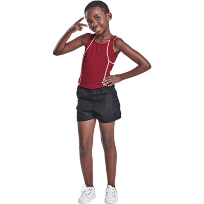 The Kiddies BRT Aero Running Shorts is made from 80g of 100% polyester material with a elasticated waistband. Available in different colours and sizes.