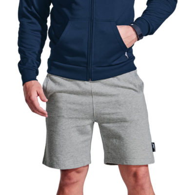 The BRT Crossover Short is made from 220g Brushed fleece, 65% polyester and 35% cotton. Available in different sizes and colours.