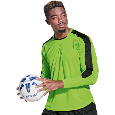 The Kiddies BRT Goalie Shirt is made from 100% polyester, the material is X-tech superior quick dry moisture management.