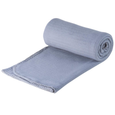 The grey All Occasion Blanket is made from 180g polyester. The blanket features include anti-pilling fleece, trimmed edge and a ribbed texture.
