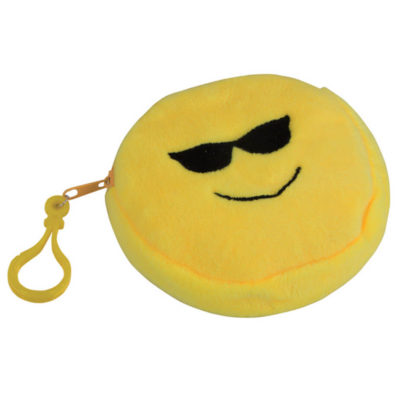 The Emoji Purse - Glasses Is Made Using Polyester. The Features Include Zip and Belt / Bag Clip. It Is Available In Yellow.