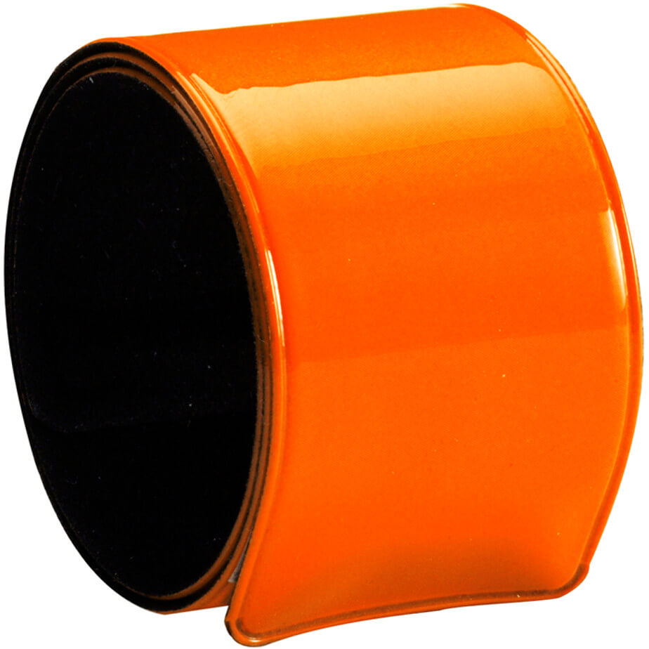 Snap Armband. Colour Orange. Is Made Using PVC, Velvet, Iron. The features include a plastic neon armband for promotional use only.