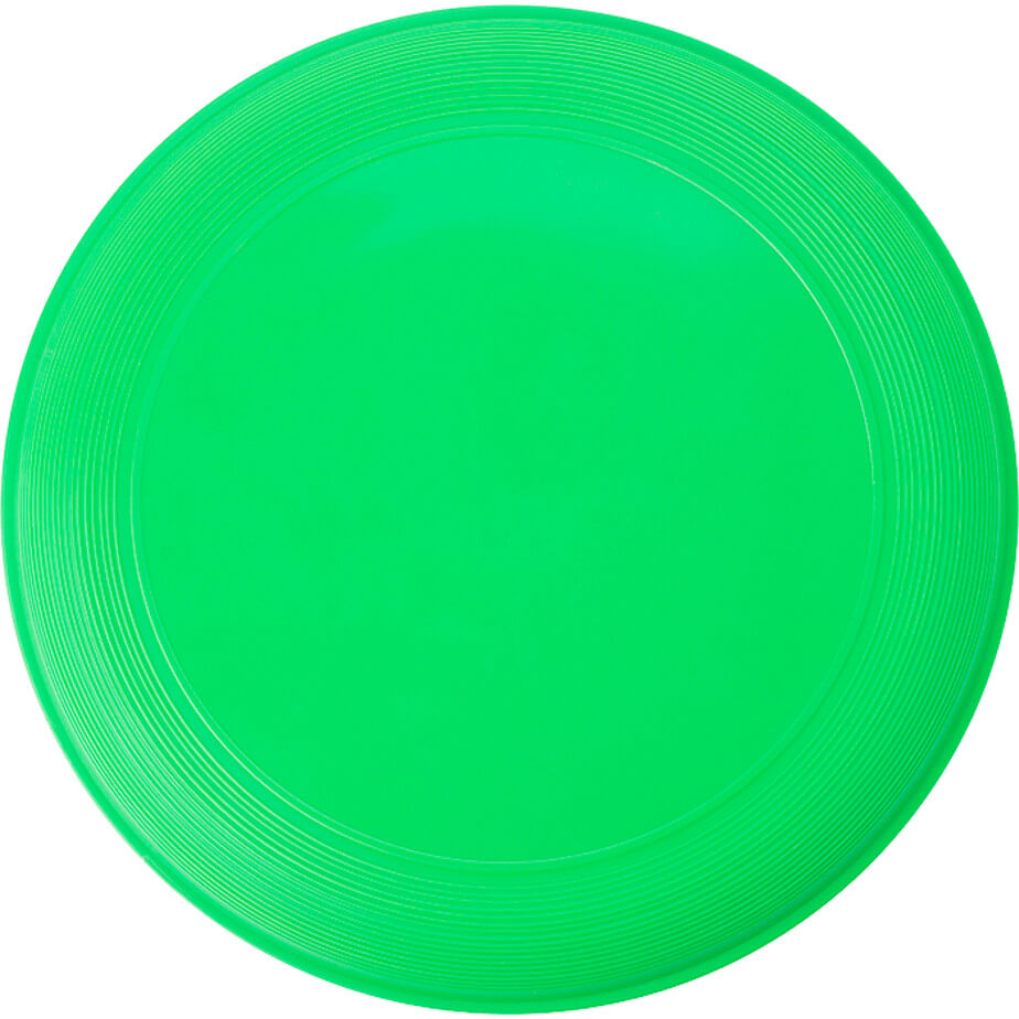 The Green Frisbee Is Made From Plastic. This Frisbee Is Long Lasting And Great For Advertising