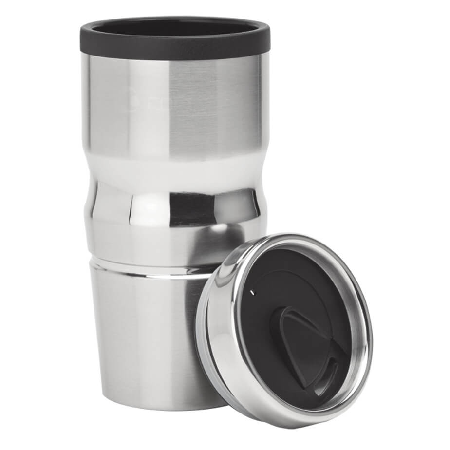 The 420ml Stainless Steel And Polypropylene Tumbler Has A Ergonomic Contour Shape, Steel Rimmed Lid And A Thumb Slide Locking Lid.