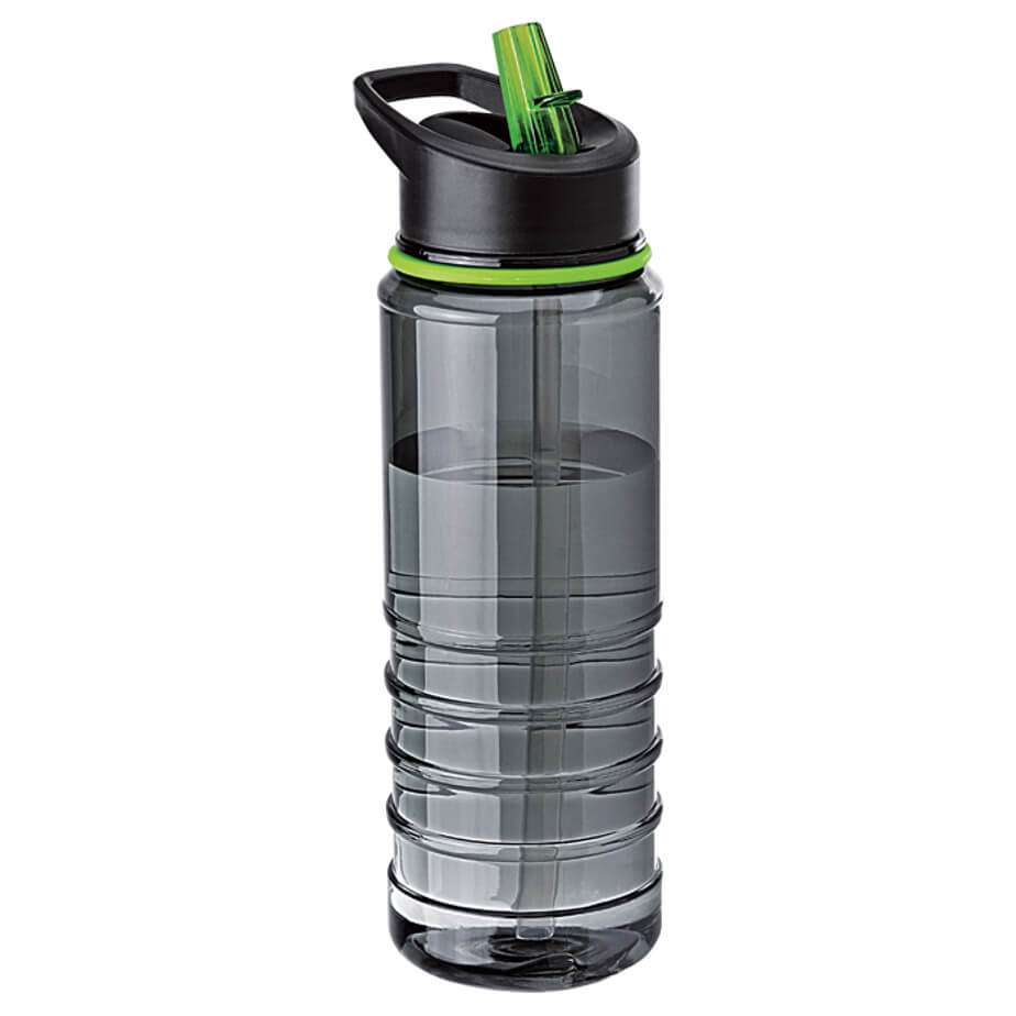 The Green 750ml Tritan Bottle With Straw Features A Integrated Carry Handle, Flip Drinking Spout, Durable Tritan Plastic And A Drinking Straw.