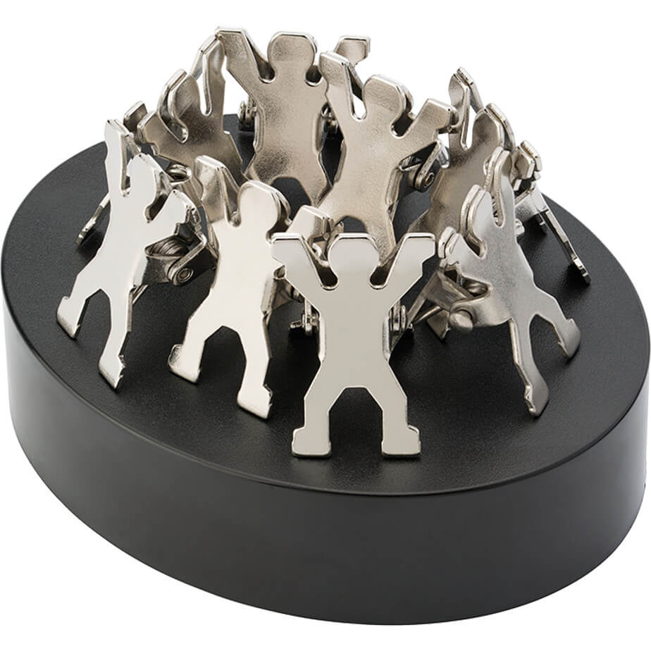 The Magnetic Paperweight With Man Shaped Clips Has Steel Clips. The Features An ABS Oval Shape Paperweight With A Magnet Including A Cute Steel Clip In Shape Of Men.