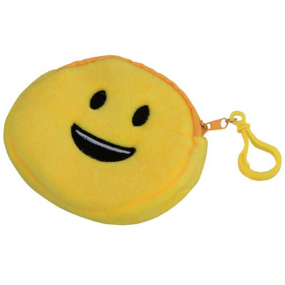 The Emoji Purse - Smiley Features A Polyester Material And Features A Zip And Belt With A Bag Clip. Available In Yellow Only.