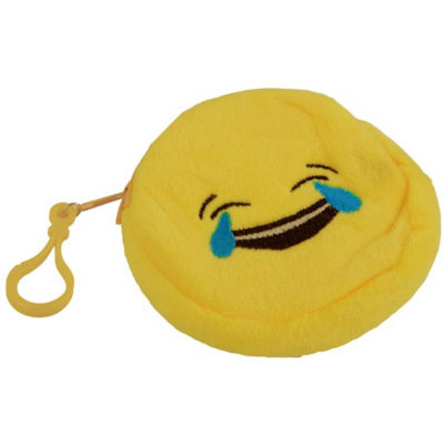 The Emoji Purse - Tears Features A Polyester Material And Features A Zip And Belt With A Bag Clip. Available In Yellow Only.