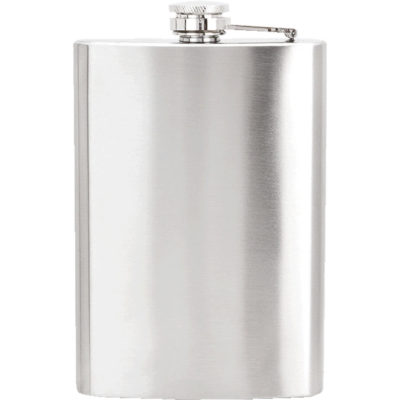 The Hip Flask is made from stainless steel with a twist off cap and has a capacity of 225ml. Available in silver.