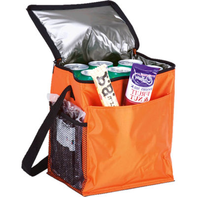 The 12 Can Cooler with 2 Exterior Pockets is made from 70D with heat sealed PEVA Lining and comes in multiple colours.