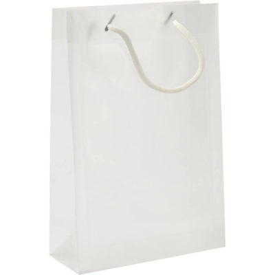 The A5 Gift Bag Is Made From Polypropylene With Two White Carry Cords. The Gift Bag Is Suitable For Goodies.