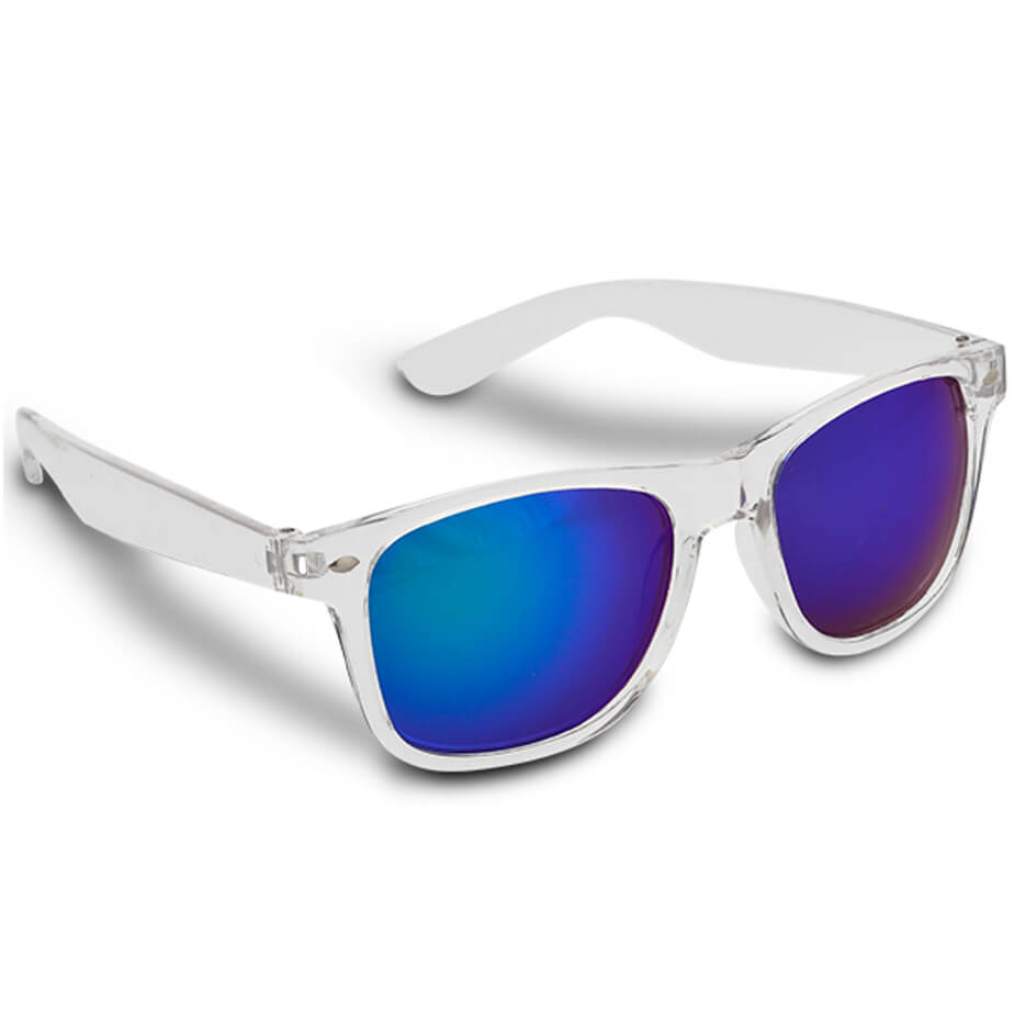 The Blue Jbay Sunglasses Is Made From Plastic.The Sunglasses Has A Clear Frame With UV400(Cat 3) Protection Lenses.