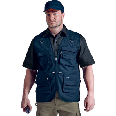 The Fishing Jacket Is Made From 100% Cotton Twill Fabric. The Jacket Features Two Chest Pockets With Subdivisions, Full Front Zip, Inner Pockets With Water Protectors And Zippered Front Pockets.