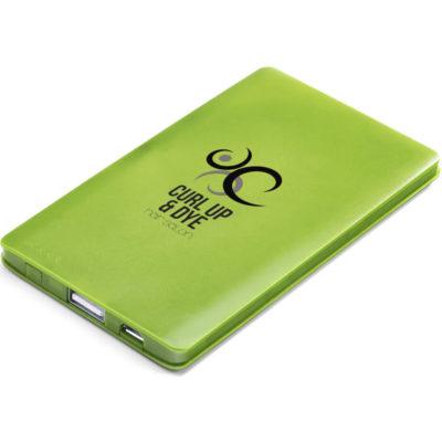 Maxi 4000mAh Slim Powerbank Lime Green