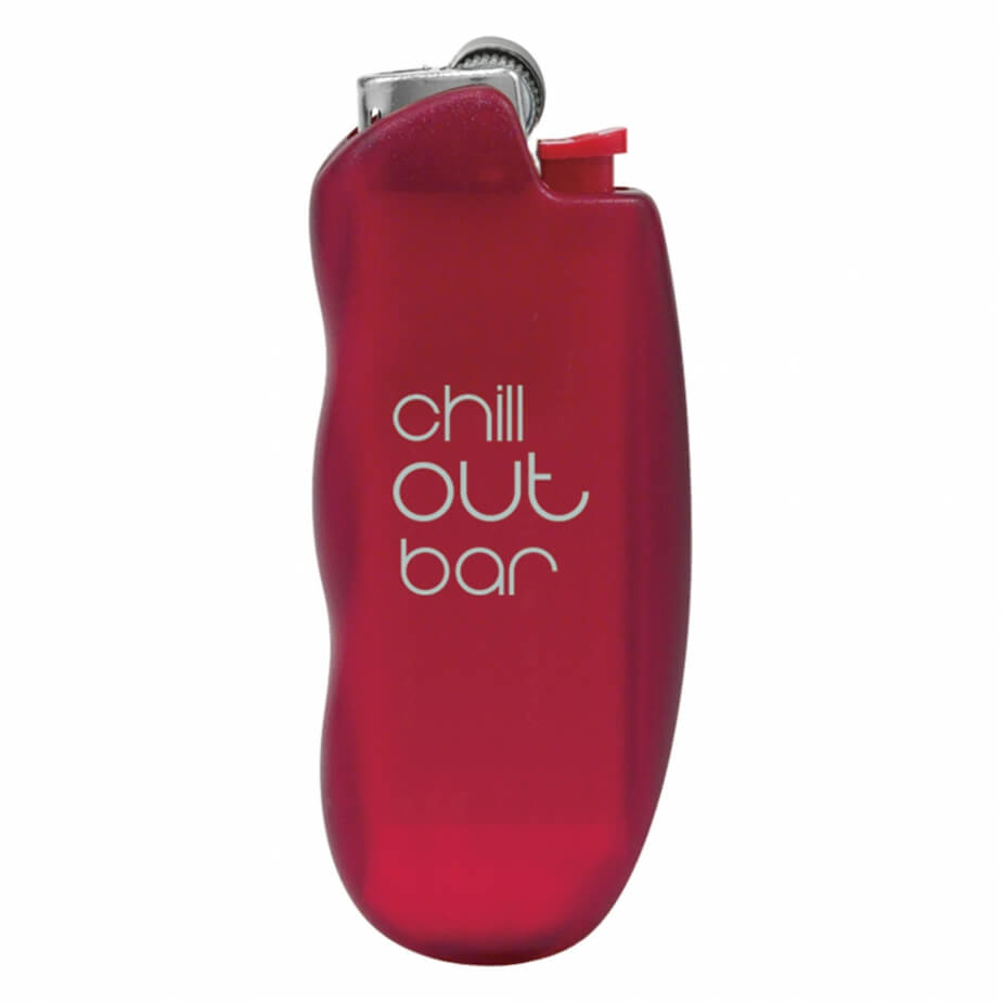 Red BIC® Stylit Fashion Lighter With 1 Colour Screen Print And Easy Hold Luxury Design Case