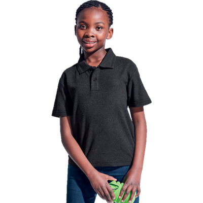 The 175g Kiddies Pique Knit Golfer is a Barron trademark two ridge collar, with two button reinforced placket and made from Poly Cotton fabric