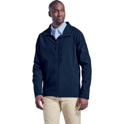 The Evoke Jacket Features A Lightweight Soft Shell Jacket Which Is Water And Wind Resistant. It Has An Inverted Full Zip Front And Two Zippered Side Pockets