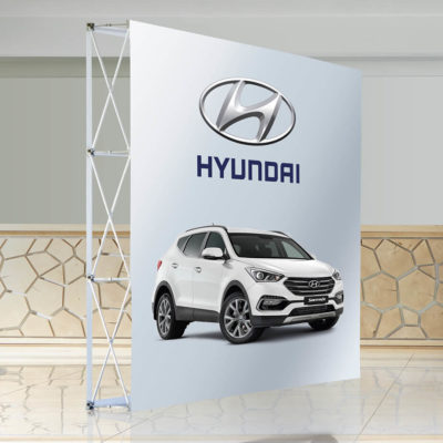 The Banner Wall Standard- Single Sided Is Made From Bannerweave And Has An Aluminium Frame.The Bannerwalls Are Digitally Printed Onto The Bannerweave.