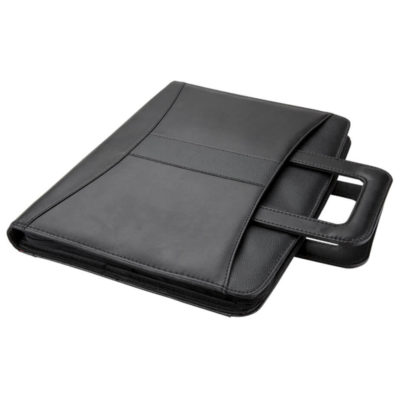 A4 Handled Folder with 2 Ring Binder Is Made Using Leatherette Material. The Features Include Extending Carry Handles.