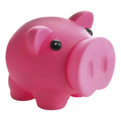 Piggy Bank with Nose Stopper Is Made Using Plastic. The Features Include A Plastic Piggy Bank With A Nose Used As A Stopper.