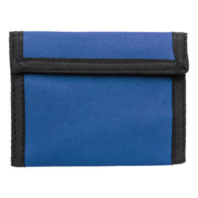 Wallet with Velcro Closure Is Made Using 190T/600D Polyester. The Features Include A Poyester Wallet With 1 Big Compartment.