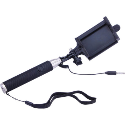 The Folding Selfie Stick Has A Silicone Handle. The Features Include An Extendable Frame And A Stainless Steel Frame.