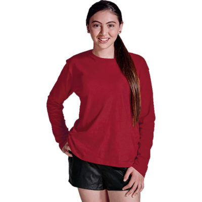 The 145g Kiddies Long Sleeve T-Shirt is made from 100% carded cotton material with a shoulder-to-shoulder taping