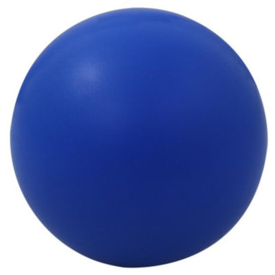 The Blue Round Stress Ball Is Made From Polysynthetic.