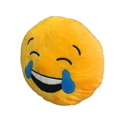 The Yellow Tears Emoji Cushion Is Made From Polyester.
