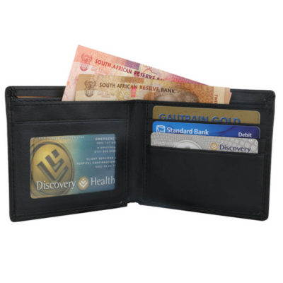 The Slender Wallet Holds 2 Main Compartments, Card Holders, ID Holders And An Inner Zip Coin Compartment. It Is Made Out Of Koskin.