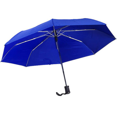 The Auto 3-Fold Umbrella Has 8 Panels With A 3 Fold And It Is WindProof And Has A Rubber Handle. It Has An Auto Open And Close.