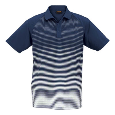 The Navy/White Apollo Golfer Is Made From 170g 100% Polyester. The Golfer Includes A Three Button Constructed Placket, Double Needle Finish On The Hem And Sleeve,Stimulated Front Body And A Knitted Rib Collar.