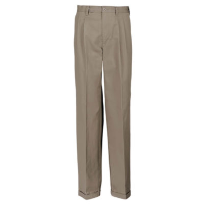 Cotton Chino Is Made From 225g 100% Cotton Twill Fabric. The Features Include Classic And Versatile Pleated Chino Trousers.