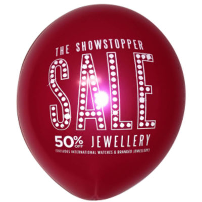Helium Quality Latex Balloon With A 1 Colour 1 Sided Print Are Made From High Quality Latex.
