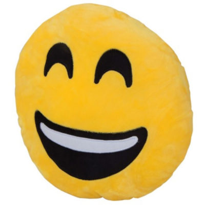The Soft And Comfy Smiley Emoji Cushion Is Yellow Smiley Emoji Print. Made From Polyester And Ensures Comfort.