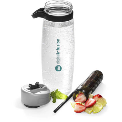 The 1L Flavourade Infuser Bottle Has A Push Up Stout And A Convenient Carry Handle.