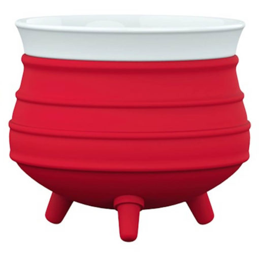 The Poykie Ceramic Pot With a silicone cover, in red is very versatile and can be used for anything. Made from ceramic and silicone, packed inside a giftbox.