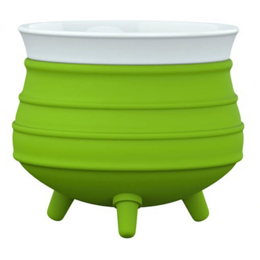 The Poykie Ceramic Pot With a silicone cover, in lime is very versatile and can be used for anything. Made from ceramic and silicone, packed inside a giftbox.