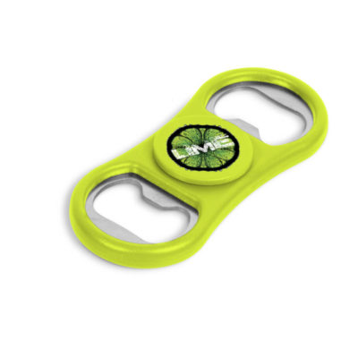 Lime Caps-Off Spinner That Is Both A Fidget Spinner And Bottle Opener
