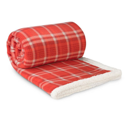 The Red Everest Sherpa Blanket Is Made From Coral Fleece And Sherpa. Th Perfect Winter Blanket.