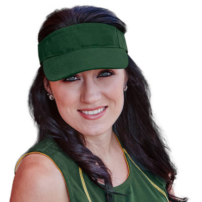 The Wing Visor is made from 100% polyester microfiber with a pre-curved peak