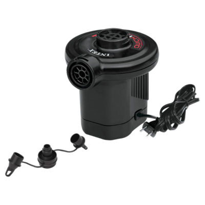 Electric Pump Includes 3 Connectors For Inflatables.