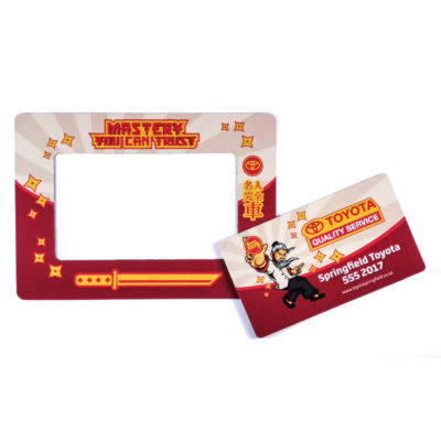 The A6 Photo Frame Magnet is a rectangular shaped magent with a removable middle part and doubles up as a photo frame
