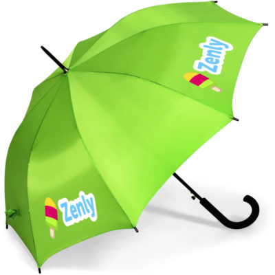 The Stratus Umbrella is a lime190T nylon umbrella with 8 panels, a strong steel shaft and a PP rubberised hook handle