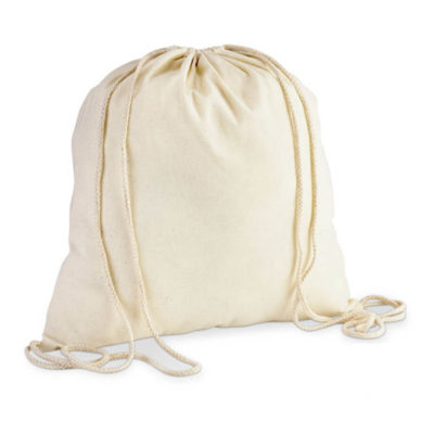 120gsm Natural Eco-Cotton Drawstring Bag