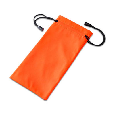 Orange Polyester Drawstring Shades Pouch